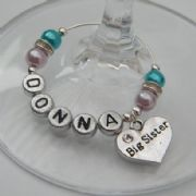 Big Sister Personalised Wine Glass Charm - Elegance Style